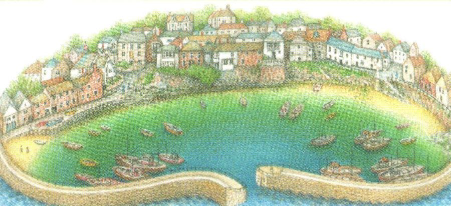 Magnetic Letter Opener - Mousehole Harbour