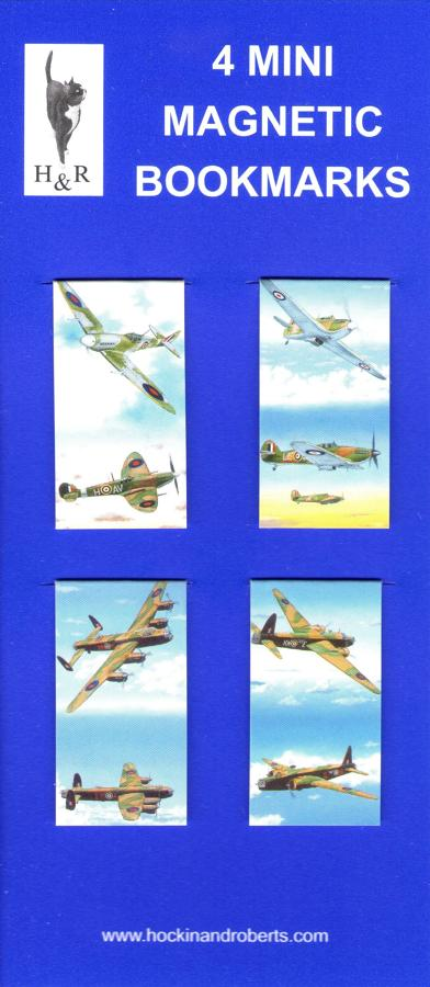 Set of Mini Magnetic Bookmarks - Aircraft