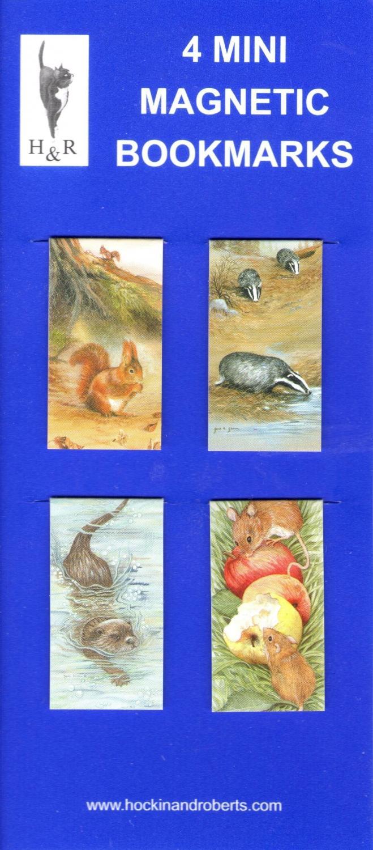 Set of Mini Magnetic Bookmarks - Animals