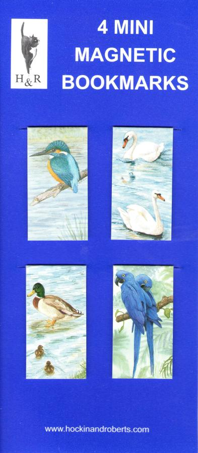 Set of Mini Magnetic Bookmarks - Birds