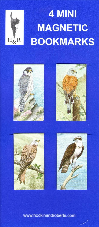 Set of Mini Magnetic Bookmarks- Birds of Prey