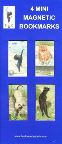 Set of Mini Magnetic Bookmarks - Cats