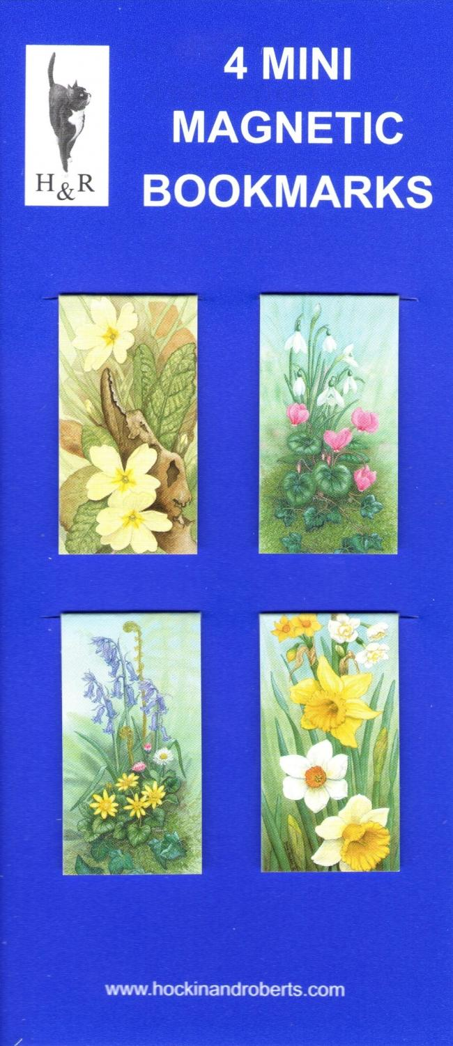 Set of Mini Magnetic Bookmarks - Wild Flowers