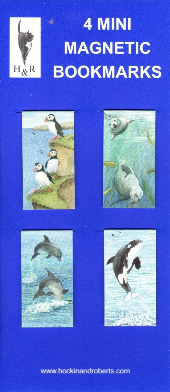 Set of Mini Magnetic Bookmarks - Marine Life