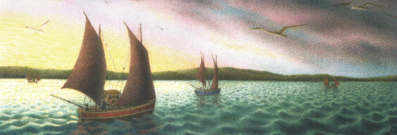 Tall Pad - Blue Green Sea