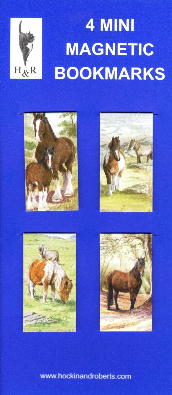 Set of Mini Magnetic Bookmarks - Horse & Pony