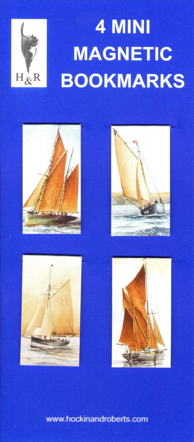 Set of Mini Magnetic Bookmarks - Boats