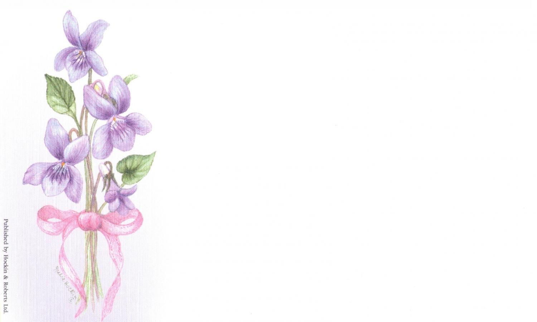Correspondence Card - Violets