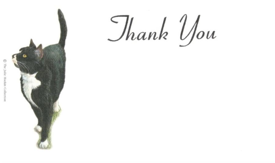 Thank You Cards - Black Cat
