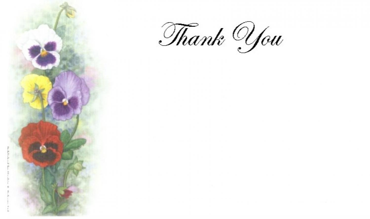 Thank You Cards - Pansies