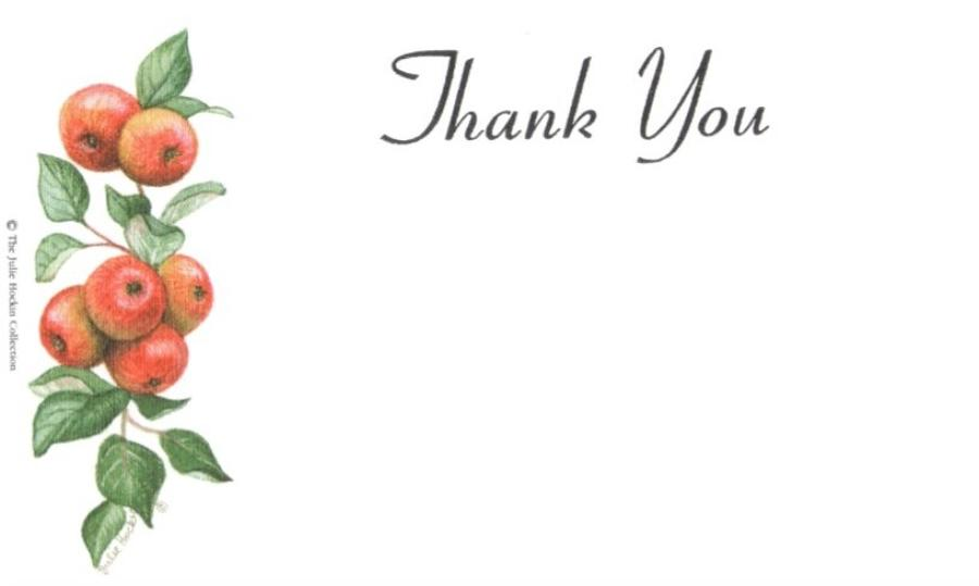 Thank You Cards - Apples