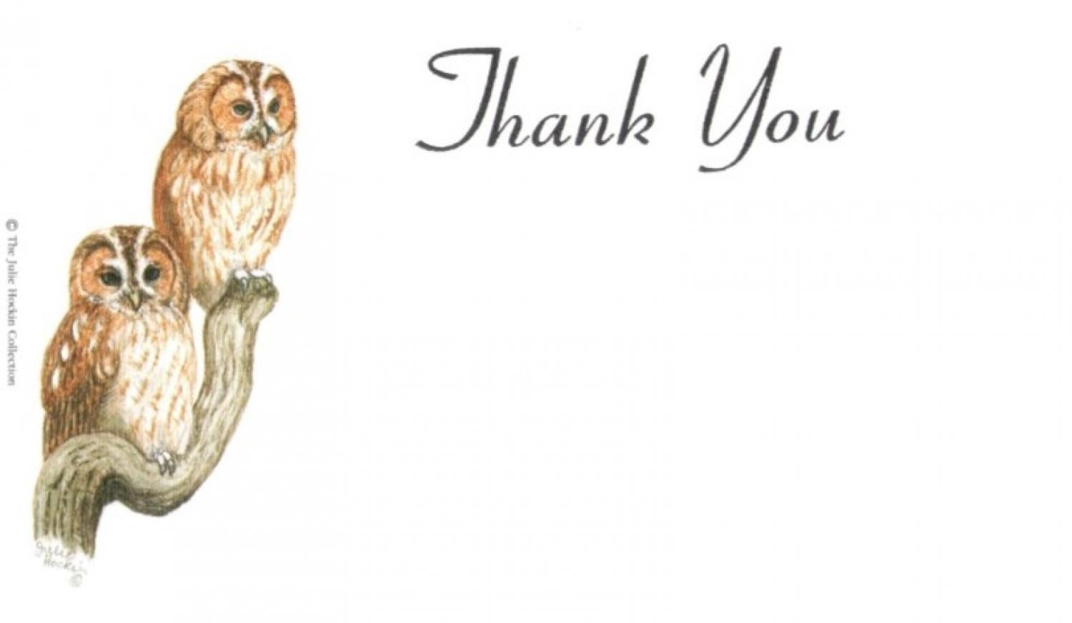 Thank You Cards - Tawny Owls