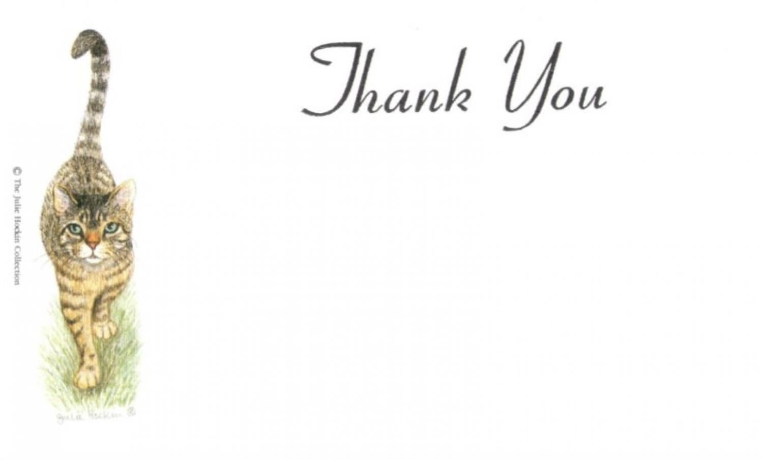 Thank You Cards - Tabby Cat