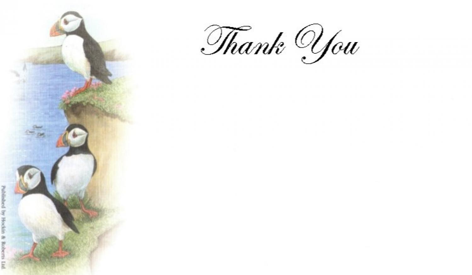 Thank You Cards - Puffins
