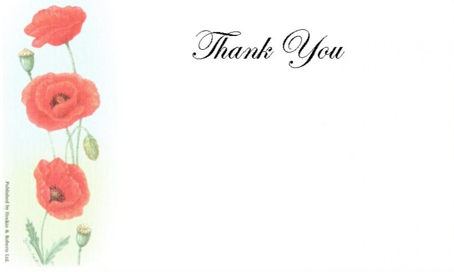 Thank You Cards - Poppies