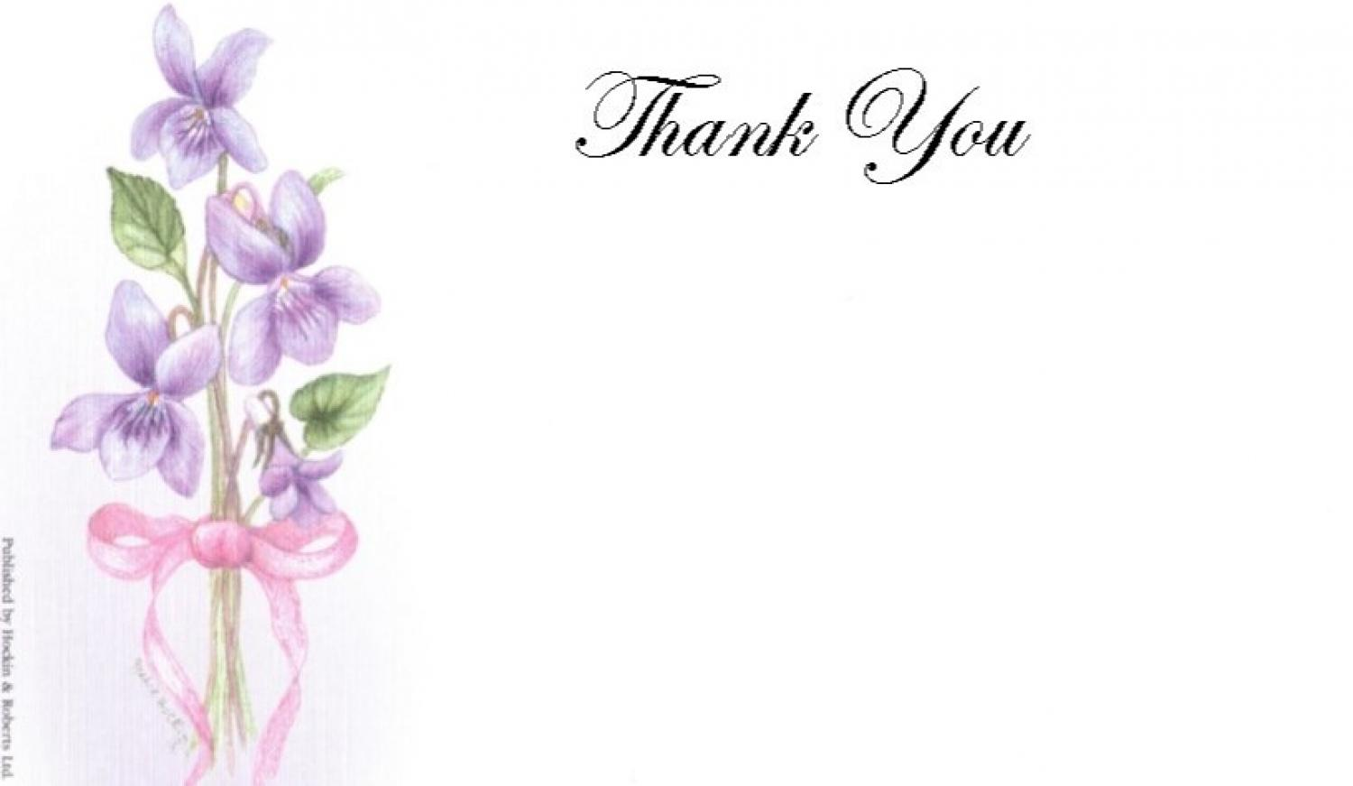 Thank You Cards - Violets