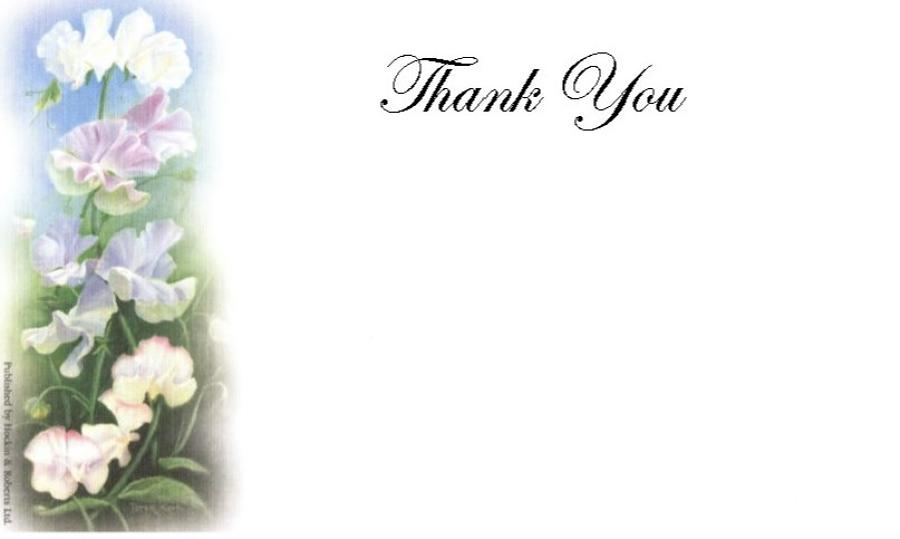 Thank You Cards - Sweet Pea