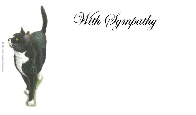 With Sympathy Card - Black Cat