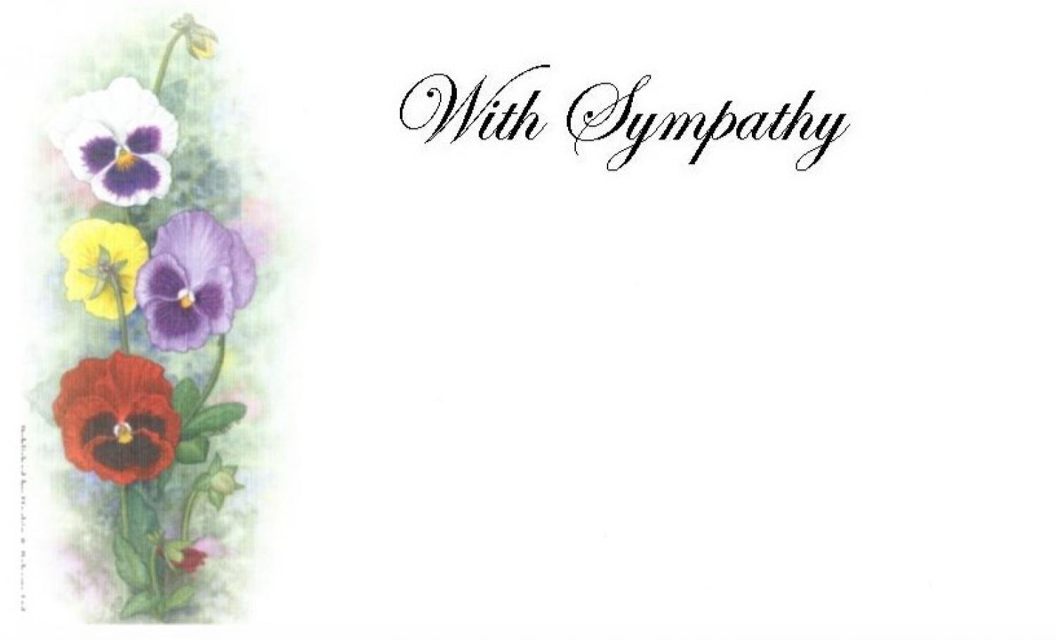 With Sympathy Card - Pansies