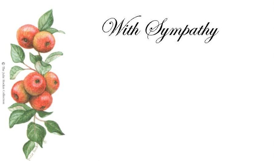 With Sympathy Card - Apples
