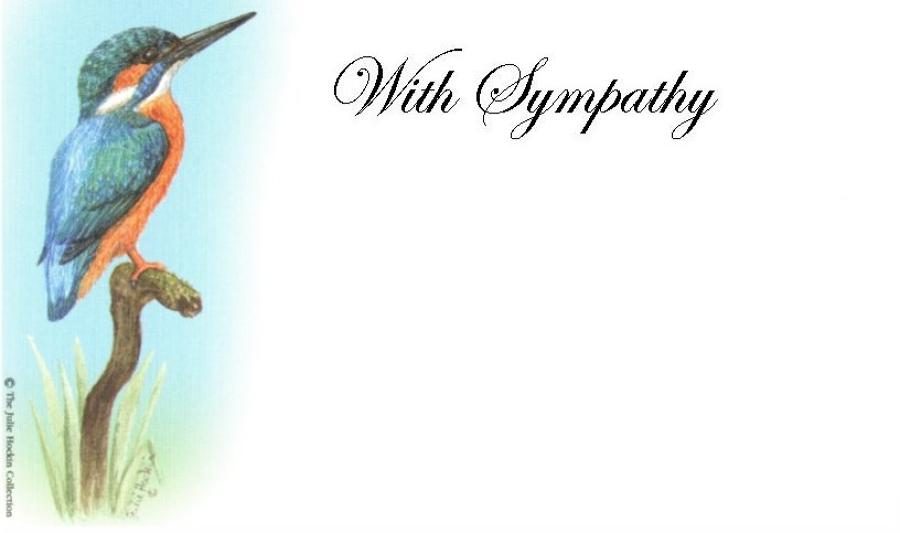 With Sympathy Card - Kingfisher