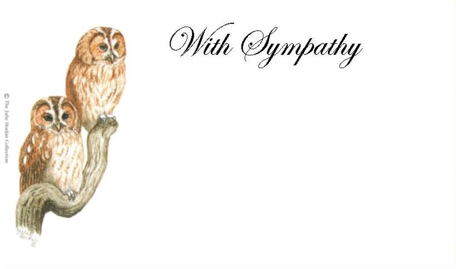 With Sympathy Card - Tawny Owls