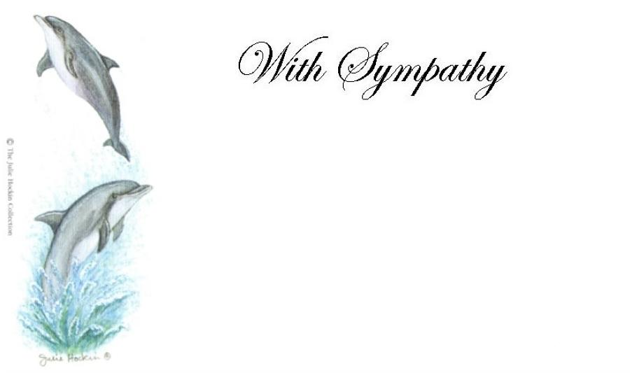 With Sympathy Card - Dolphins