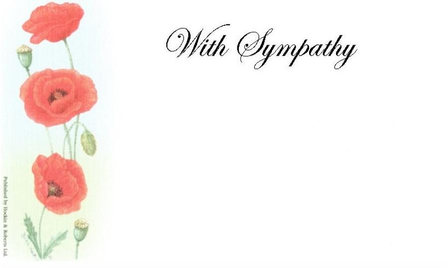 With Sympathy Card - Poppies