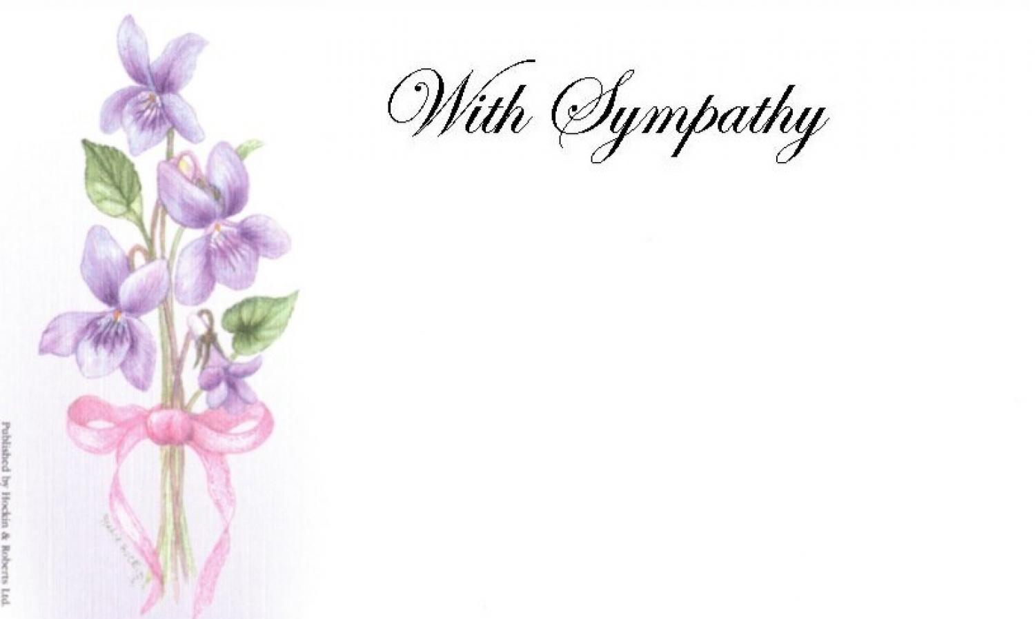 With Sympathy Card - Violets