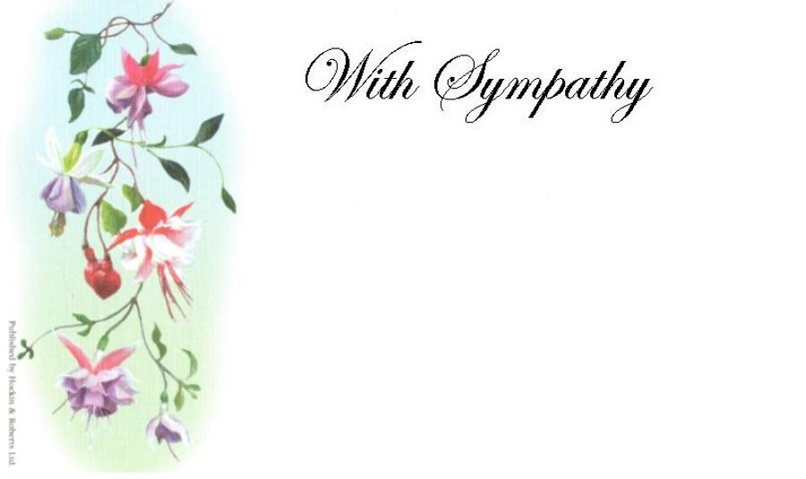 With Sympathy Card - Fuchsia