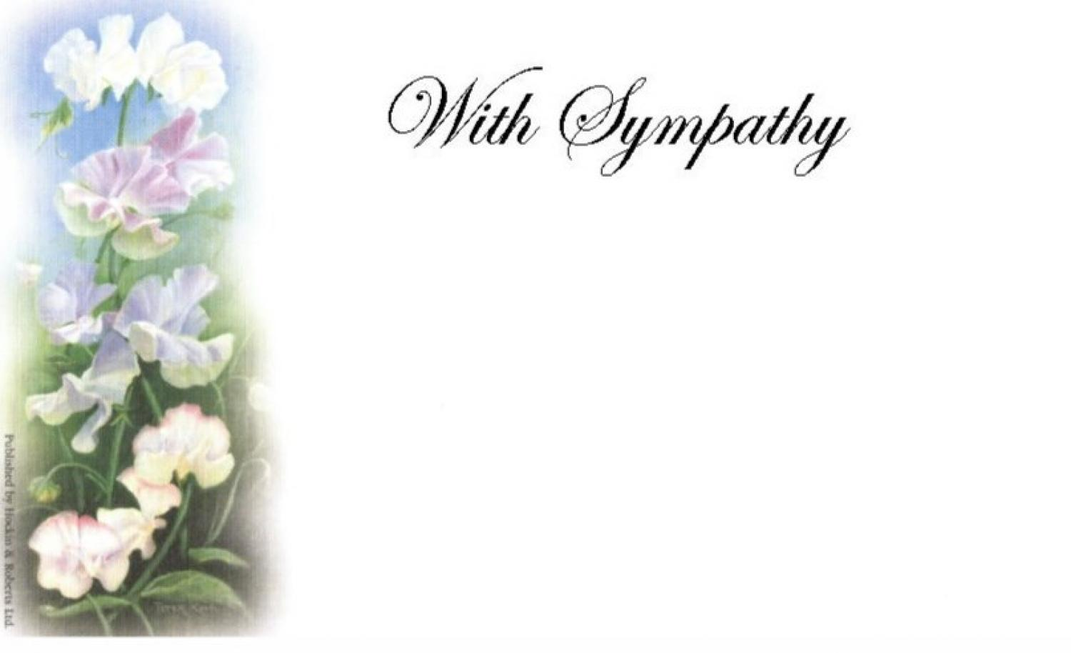 With Sympathy Card - Sweet Peas