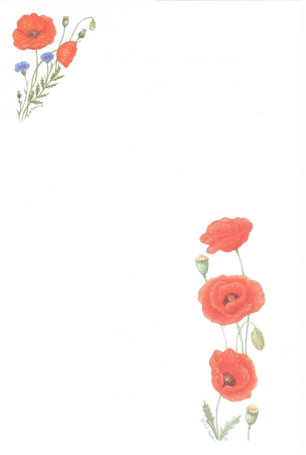 Notelets - Poppies