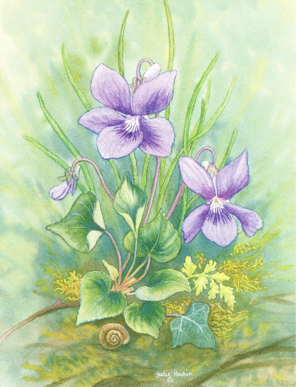 Magnetic Fridge Pad - Violets