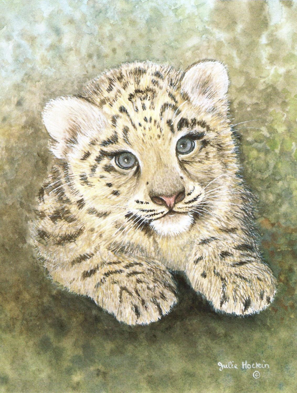 Magnetic Fridge Pad - Snow Leopard Cub