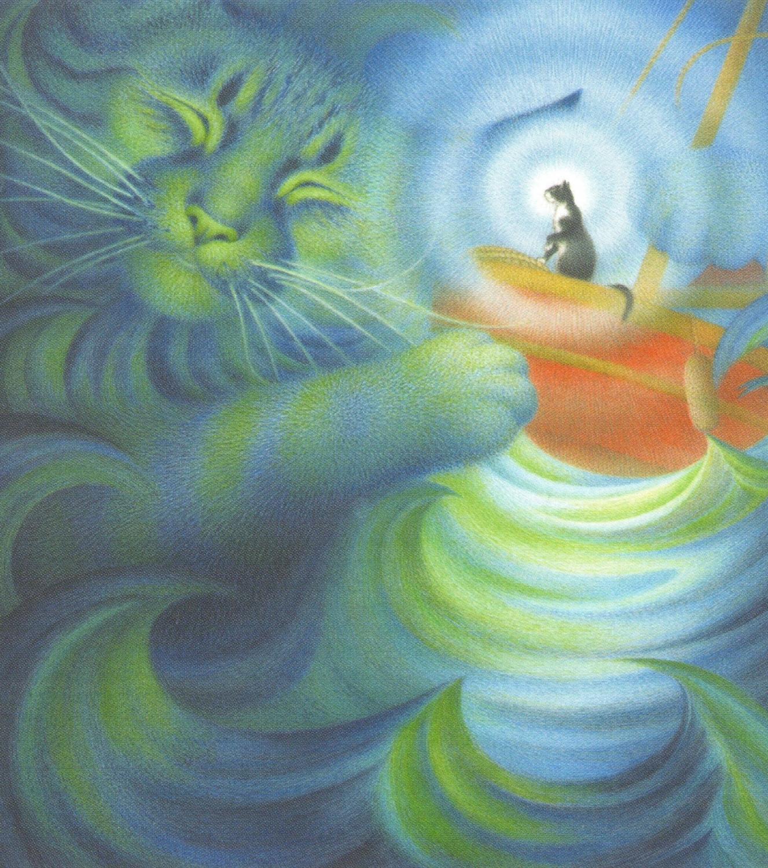 Magnetic Fridge Pad - Calming the Storm Cat