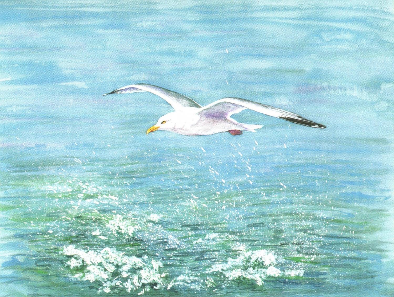 Magnetic Fridge Pad - Seagull in Flight
