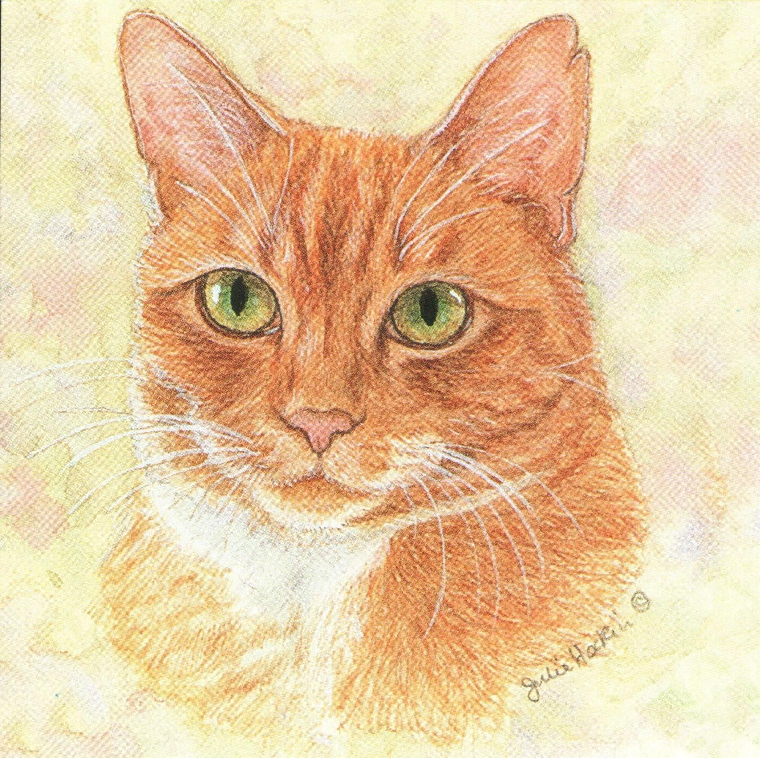 Small Magnetic Fridge Pad - Ginger Cat
