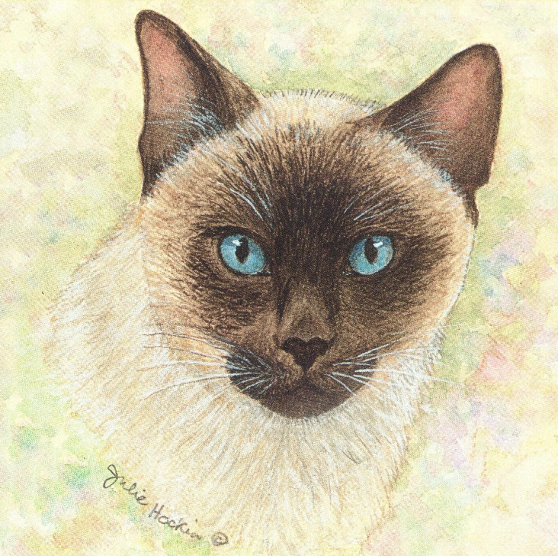 Small Magnetic Fridge Pad - Siamese Cat
