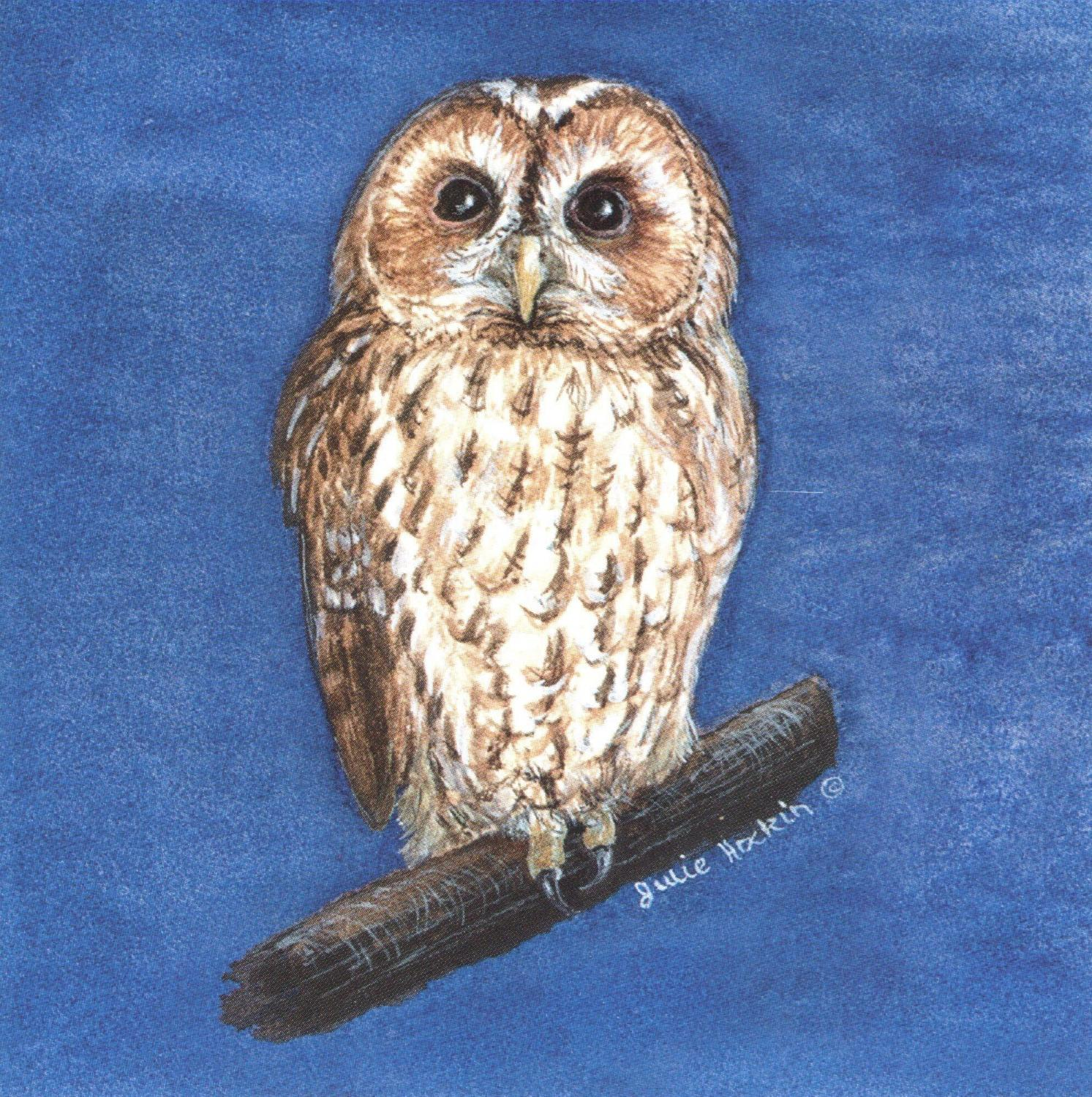 Small Magnetic Fridge Pad - Tawny Owl