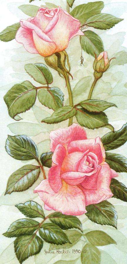 Tall Card - Roses