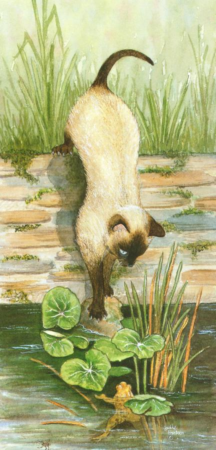 Tall Card - Siamese Cat