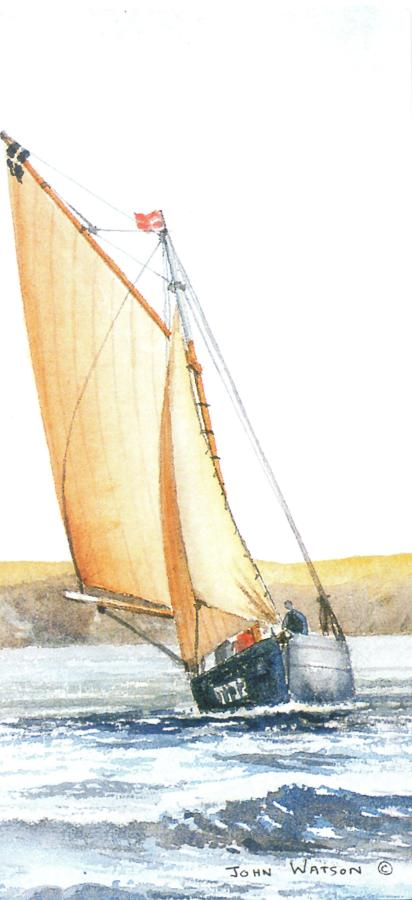 Tall Card - Cornish Oyster Boat