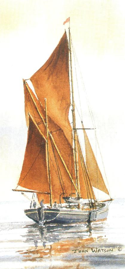 Tall Card - Thames Barge