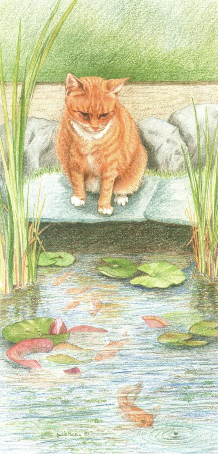 Tall Card - Ginger Cat