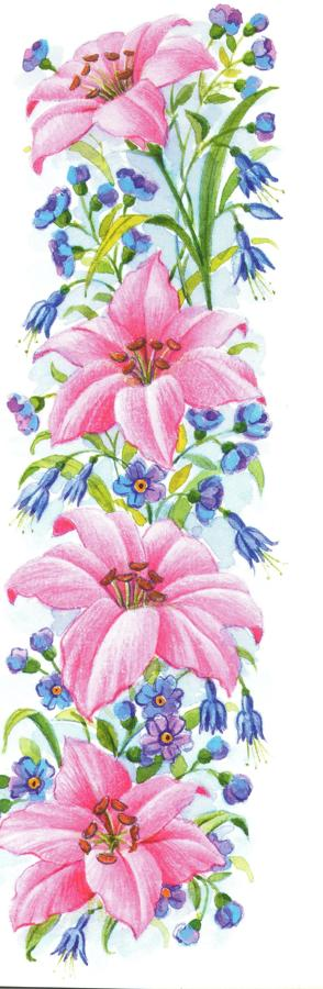 Narrow Card - Pink Lily