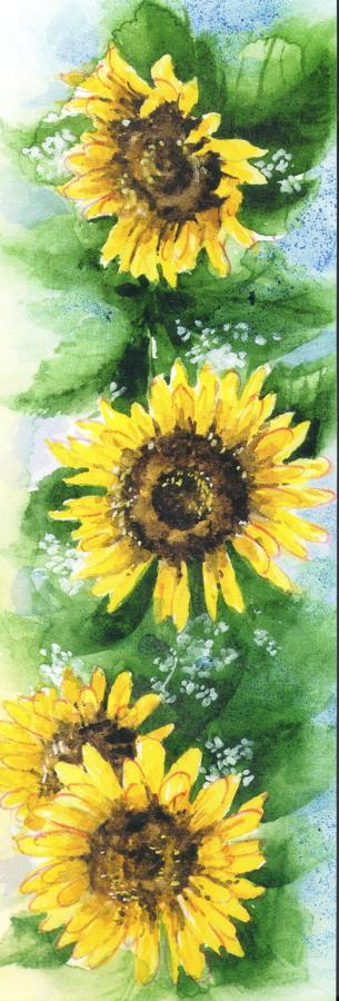 Narrow Card - Sunflowers