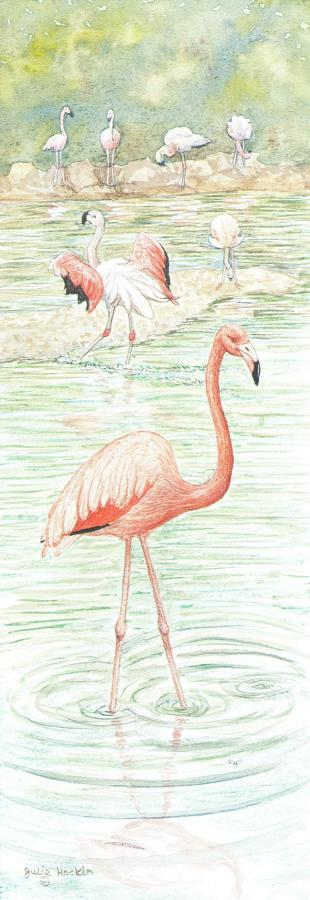 Bookmark - Flamingo