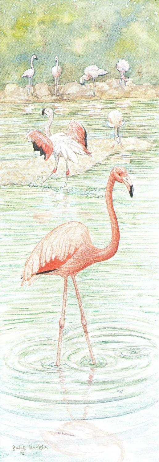 Bookmark - Flamingo