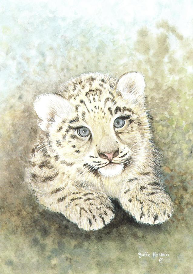 A6 Card - Snow Lepoard Cub