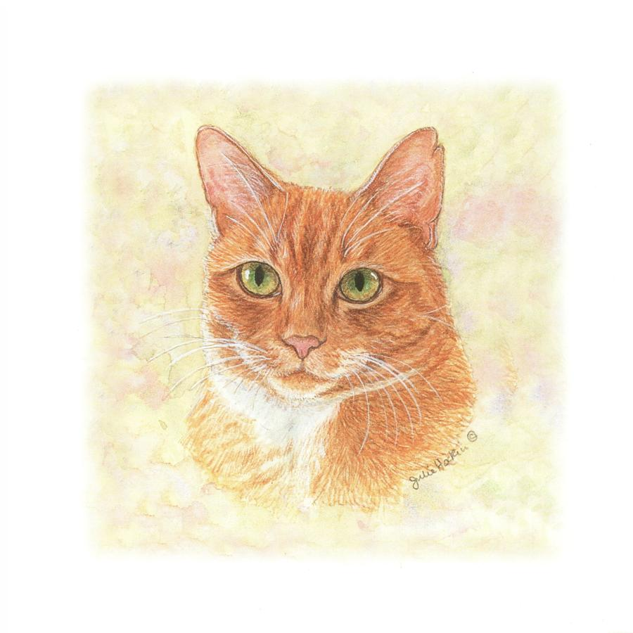 Square Card - Ginger Cat